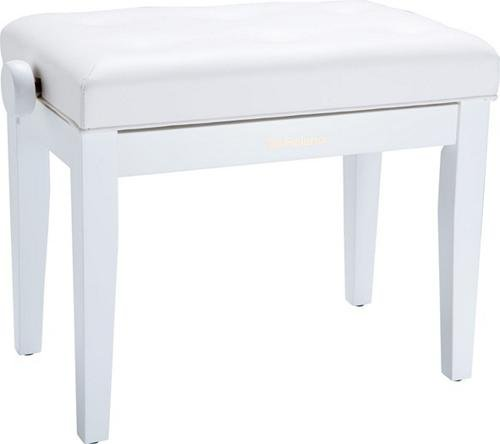 Roland RPB-300WH Piano Bench with Cushioned Seat, Satin White