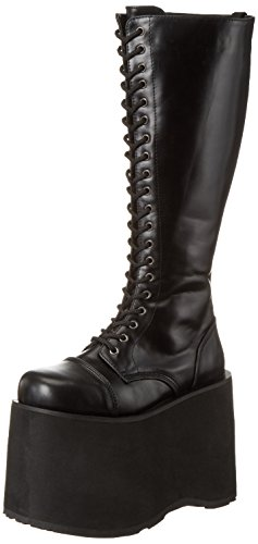 Pleaser Mens Mega 602 Spets-up Boot Svart Pu