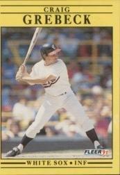 Amazon com: 1991 Fleer Baseball Card #120 Craig Grebeck