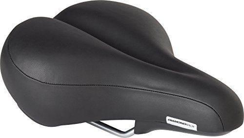 Diamondback Men's Pillow Top Bicycle Saddle, Black