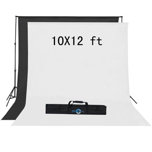 Shutter Starz1042 SS6400 Premium Photography Backdrop Economy Kit for Home Studio