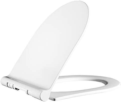 U字型便座、白い厚い便蓋、ソフトクロージャー、クイックリリース、掃除が簡単、PP素材無臭、ほとんどの標準トイレに適しています