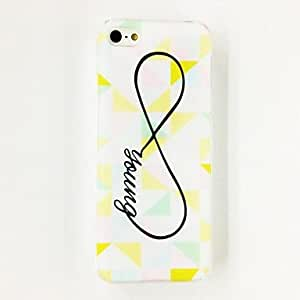 DUR Colorful Irregular Triangle Bow-knot Love Word Pattern Plastic Hard Case for iPhone 5/5S , Multicolor