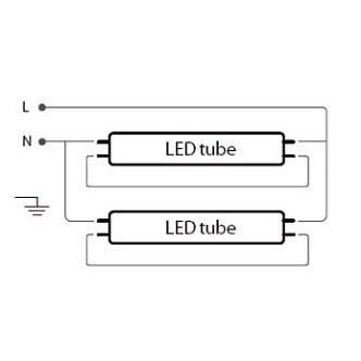 LED Feuchtraumwannenleuchte, 1500 mm, 2-flammig, Feuchtraumleuchte ...