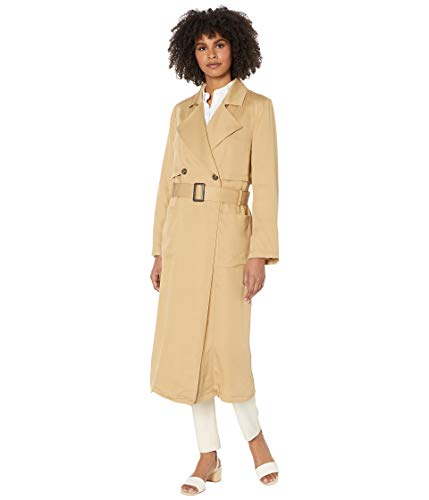 cupcakes and cashmere Women's Melody Lyocell Trench, Army Tan, Small