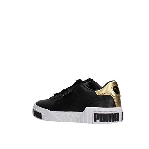 PUMA, Donna, Cali Bold Metallic Wmns White Gold, Pelle, Sneakers, Bianco