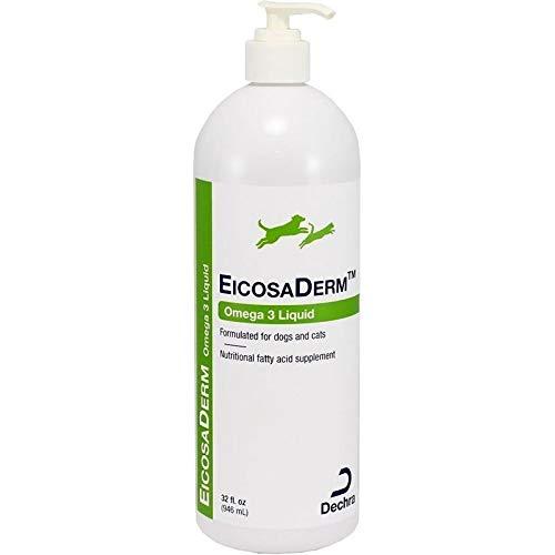 Dechra EicosaDerm Omega 3 Liquid for Dogs & Cats (32oz) - Nutritional Fatty Acid Supplement by Dechra