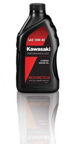 Kawasaki 4-Stroke Motorcycle Engine Oil 10W40 1 Quart K61021-202A (Four Stroke Motor)