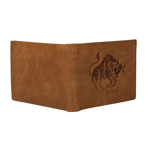 MENS LEATHER WALLETS (TAN TAURUS)
