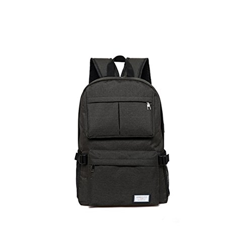 Olivia Canvas Laptop Backpack Lightweight Computer Backpack with USB Charging Port Large Capacity for Travel Business Backpack with USB Charging Port ()