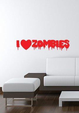 I Love ZOMBIES wall-art vinyl Sticker 5