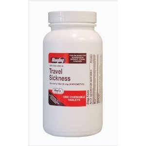 Meclizine Chewable Tablets – 25mg – Bottle of 1000, Health Care Stuffs