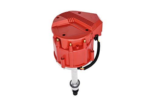 A-Team Performance Marine Electronic Distributor Compatible with Chevy V8 Mercruiser OMC Volvo Pleasurecraft ChrisCraft Crusader Yanmar SBC BBC 283 302 305 307 327 350 383 396 400 427 454 Red Cap