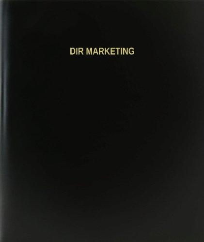 BookFactory® Dir Marketing Log Book / Journal / Logbook - 120 Page, 8.5''x11'', Black Hardbound (XLog-120-7CS-A-L-Black(Dir Marketing Log Book)) by BookFactory