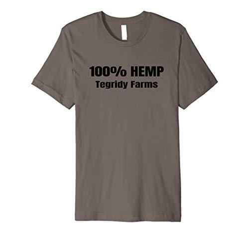 100% Hemp - Funny 100% Hemp Tegridy Farms Weed Farmer Gift T-shirt
