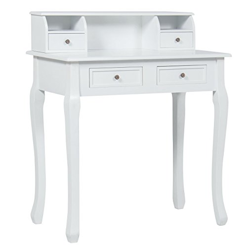 Best Choice Products Home Office Furniture Writing Desk Work Station Computer Laptop Table - White