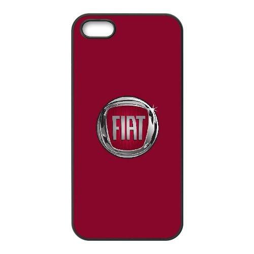 Fiat 001 coque iPhone 4 4S cellulaire cas coque de téléphone cas téléphone cellulaire noir couvercle EEEXLKNBC25049