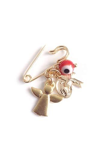 Protection Mal de Ojo Gift Evil Eye Pin Brooch Religious Pendants