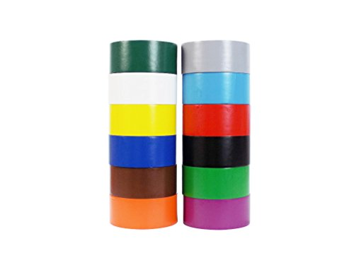 Vinyl Marking Tape 2'' x 36 yards several colors to choose from, Rainbow by Tape Brothers