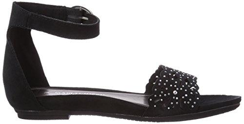 Marco Tozzi 28106 - Sandalias de vestir de lona para mujer negro - Schwarz (Black / 1)
