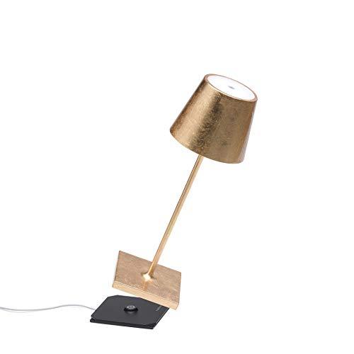 Zafferano Poldina Pro Mini-dimbare led-tafellamp van aluminium, beschermingsklasse IP54, gebruik binnen en buiten…