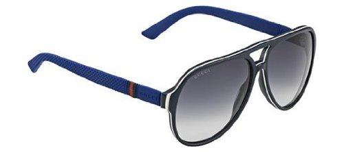 Gucci gg1065 4uvjj Blue Cream White Lens: Gray - Aviators Gucci White