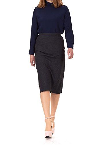 neat-stretch-back-split-h-line-midi-skirt-m-charcoal
