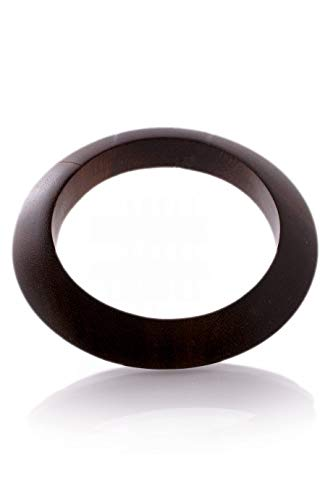 (Kenneth Jay Lane Knife Edge Shape Dark Wood Bangle )