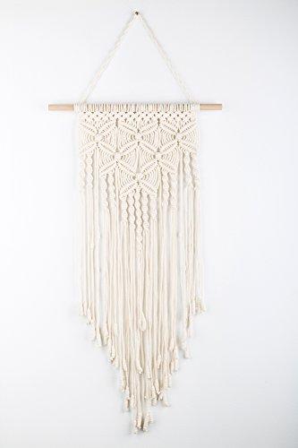 - TIMEYARD Macrame Wall Hanging - Woven Wall Art - Macrame Tapestry - Boho Home Decor - 12