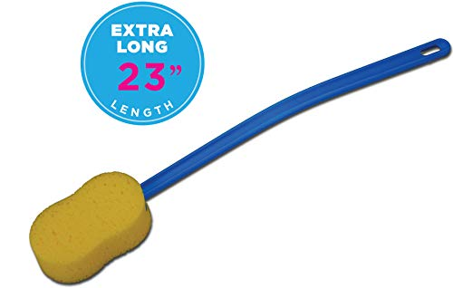 "NOVA Extra Long 23"" Bath and Back Sponge with Contoured and Flexible Handle"