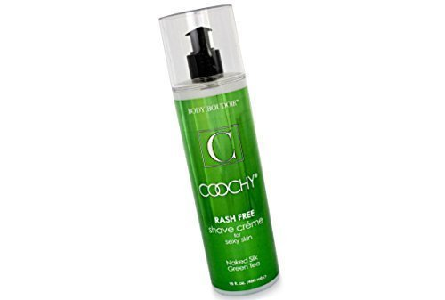 Coochy Rash Free Naked Silk Green Tea Water Based Shave Creme (Safe for All Body Parts Including Face and Intimate Areas) - Size 16 (Coochy Green Tea)