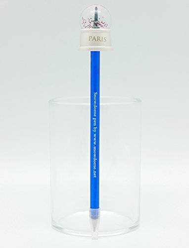Effel Tower Snowdome PEN (Snowglobe PEN) ball-point pen BLACK ink