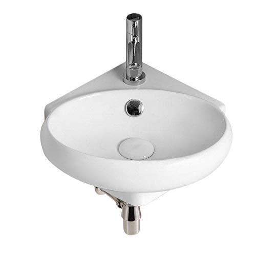 (Caracalla CA4518-One Hole-637509833701 Ceramica II Collection Bathroom Sink, White )