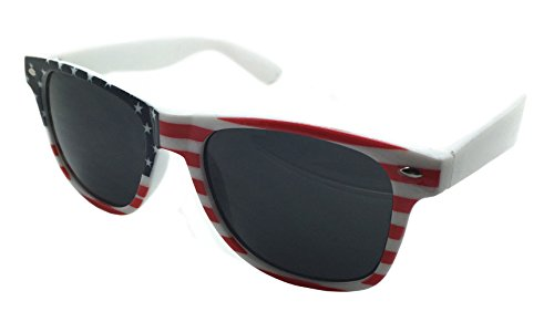 FancyG® American Sunglasses US Flag Star Spangled Banner July 4th Sunglasses Frame UV400 Eye Protection Summer - U 4 Sunglasses