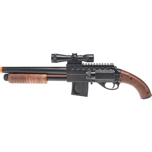 Smith & Wesson M3000 Spring-powered Airsoft Shotgun W/ Light, Scope, 2 Clips