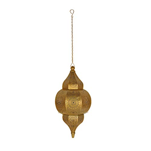 (Morrocan Metal Ceiling Light Pendant 20 X 10 Inches (Blue))