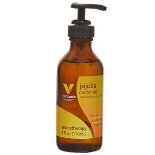 The Vitamin Shoppe Jojoba Carrier Oil, with Antioxidant Vitamins, Aromatherapy Oil for Natural, Soothing and Moisturizing Benefits (4 Fluid Ounces Liquid)