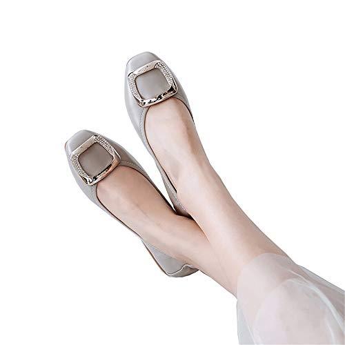 Ballet FLYRCX cómodos Maternidad Zapatos portátiles de de Mujer Fondo EU Trabajo Planos de Poco 41 de Antideslizantes UE de de Zapatos Blando Profundos 40 Viaje Zapatos Moda Zapatos qqrTa