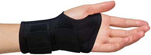 Carpal Tunnel Wrist Brace for Men and Women - Day and Night Therapy Support Splint for Relief of Arthritis Wrists Arm Thumb and Hand Pain - Adjustable Straps (Left Hand - Large-XL)