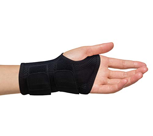 Carpal Tunnel Wrist Brace for Men and Women - Day and Night Therapy Support Splint for Relief of Arthritis, Wrists, Arm, Thumb and Hand Pain - Adjustable Straps (Left Hand - Large-XL) (Best Wrist Brace For Sleeping)