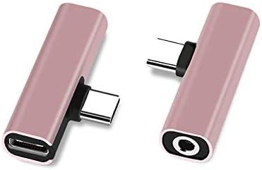 Type C vers Prise Casque 3,5 mm et Adaptateur Jack Adaptateur Audio Compatible pour Xiaomi et Plus Encore VEVICE Adaptateur 2 en 1 USB C
