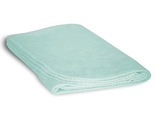 Mint Stroller - Luxurious Cozy Premium Super Soft 30 x 40 Fleece Throw Baby Blanket For Strollers, Car Seats, Kids Bed & Pets (Mint Green)