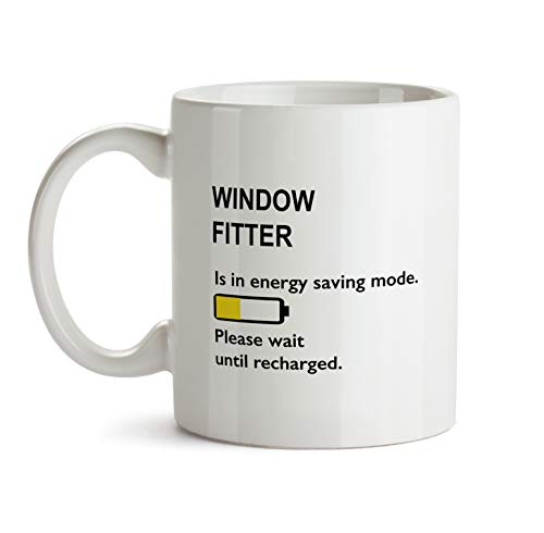 Best Ever Window Fitter Gift Mug - BB102 Funny Thank You Appreciation Coworker Coffee Cup - White Novelty Work Office Present For Men Women by BarborasBoutique