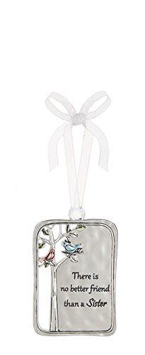 There Is No Better Friend Than a Sister Metal Plate Car Charm - By Ganz