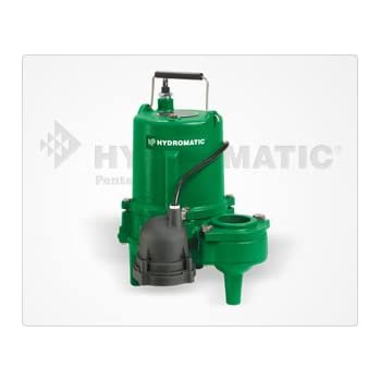 Hydromatic SP50A1 1/2 HP Cast Iron Sewage Ejector Pump (Automatic)