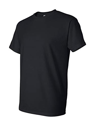 - Gildan Adult 5.6 oz 50/50 Short Sleeve T-Shirt in Black - X-Large