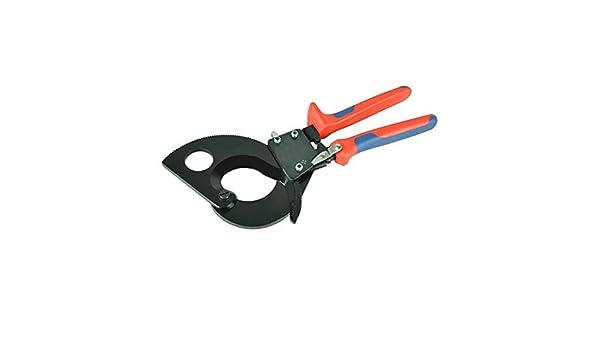 HS-325A Alicates para prensar,cortador de cable de trinquete de 240 mm/²,herramienta manual multifunci/ón con abrazadera de trinquete para corte profesional de cable de servicio pesado