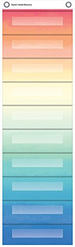 Watercolor 10 Pocket File Storage Pocket Chart (14 x 58)