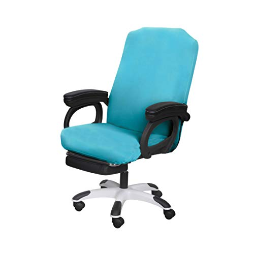 SARAFLORA Office Chair Covers Stretch Washable Computer Chair Slipcovers for Universal Rotating Boss Chair Medium Size Teal
