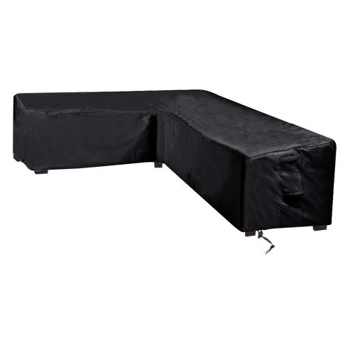 (Linkool Upgrade Patio Furniture Sectional Couch Covers,Premium Outdoor Waterproof V Shaped,100